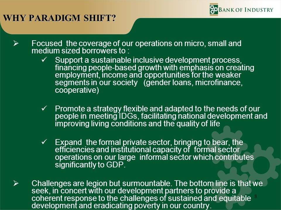 8 WHY PARADIGM SHIFT.
