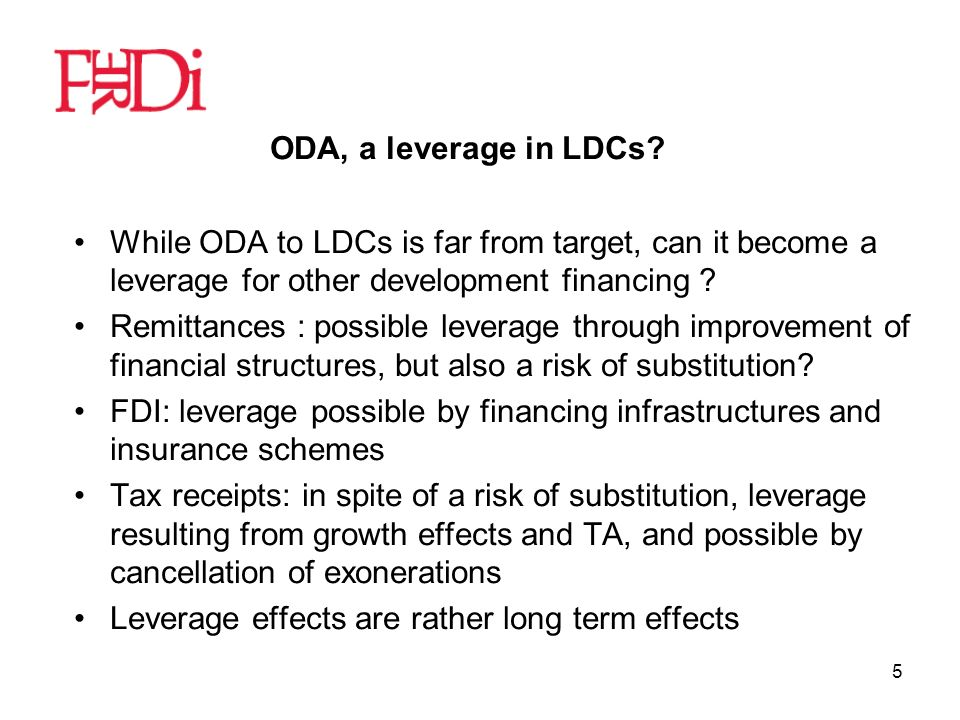 5 ODA, a leverage in LDCs.