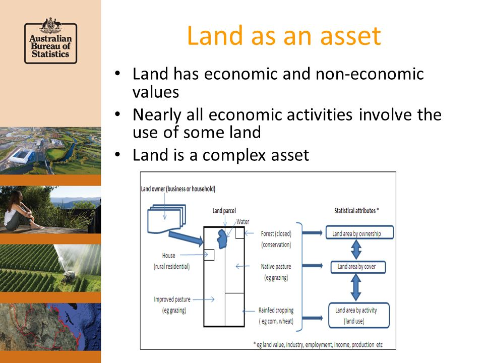 Land as an asset Land has economic and non-economic values Nearly all economic activities involve the use of some land Land is a complex asset
