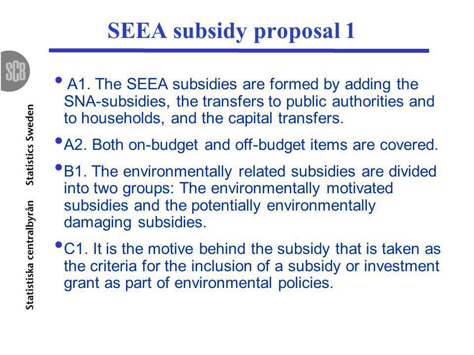 SEEA subsidy proposal 1 A1.