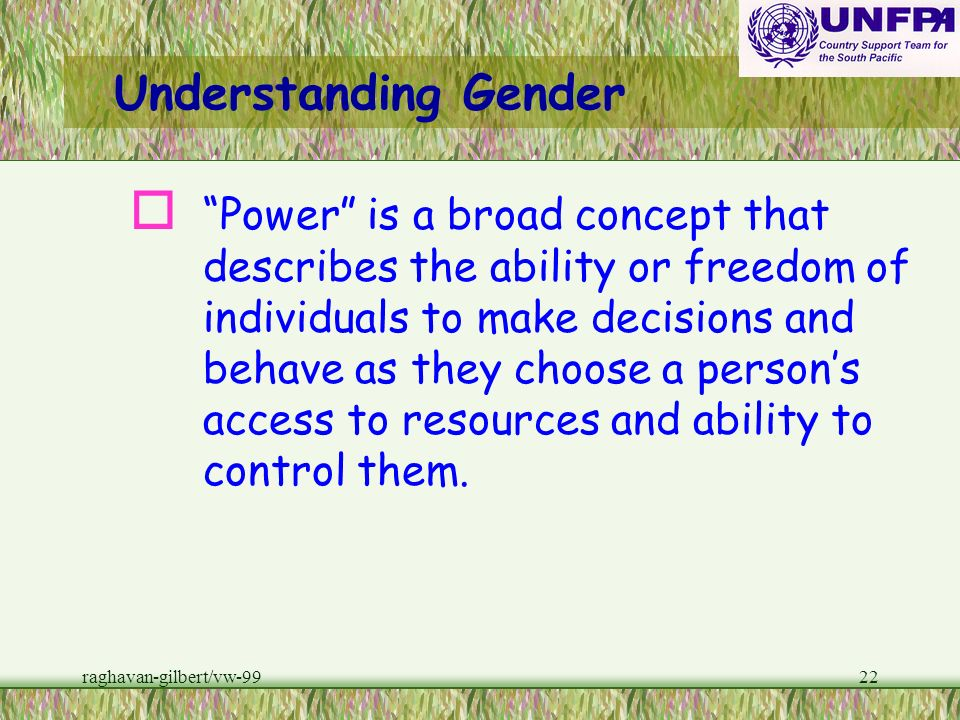 raghavan-gilbert/vw-9921 Understanding Gender wgender roles and gender norms are culturally specific and thus vary tremendously around the world. w ho