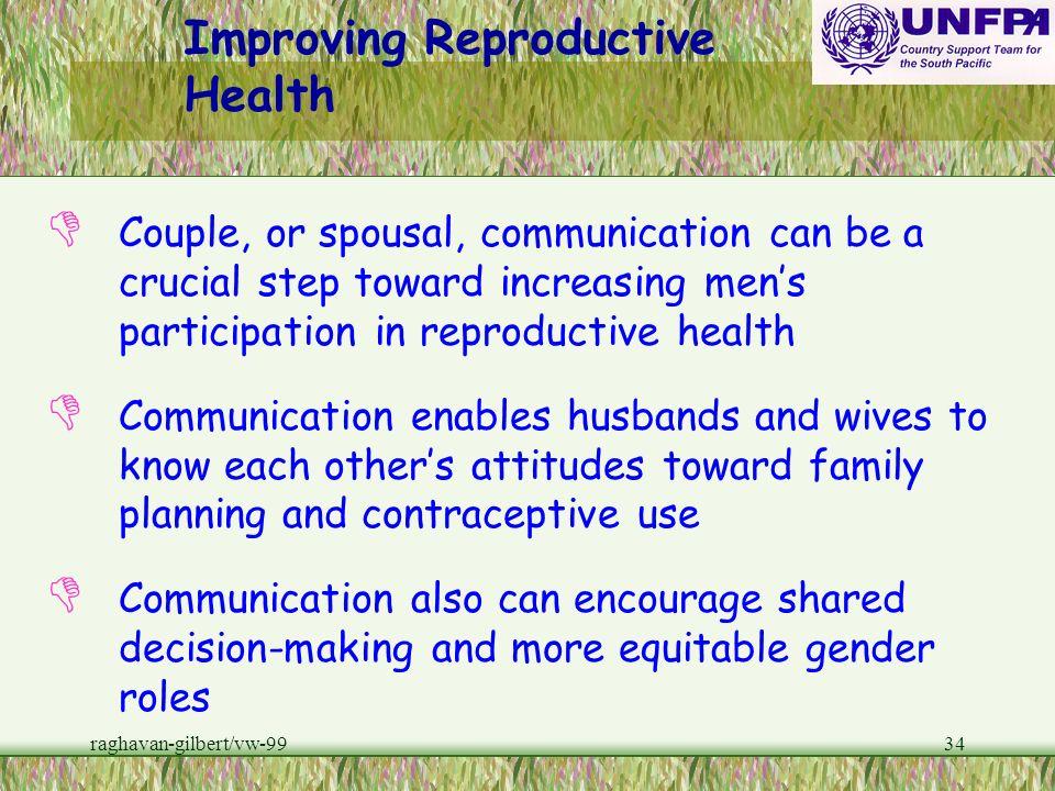raghavan-gilbert/vw-9933 b Male gender roles harm mens health as well as womens. b Mens control over reproductive decision- making may be weakening tr