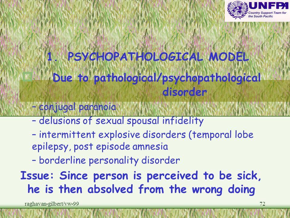 raghavan-gilbert/vw-9971 FRAMEWORKS FOR STUDYING VIOLENCE AGAINST WOMEN (VAW) 1.PSYCHOPATHOLOGICAL MODEL 2.SOCIOLOGICAL EXPLANATIONS 3.NESTED FRAMEWOR