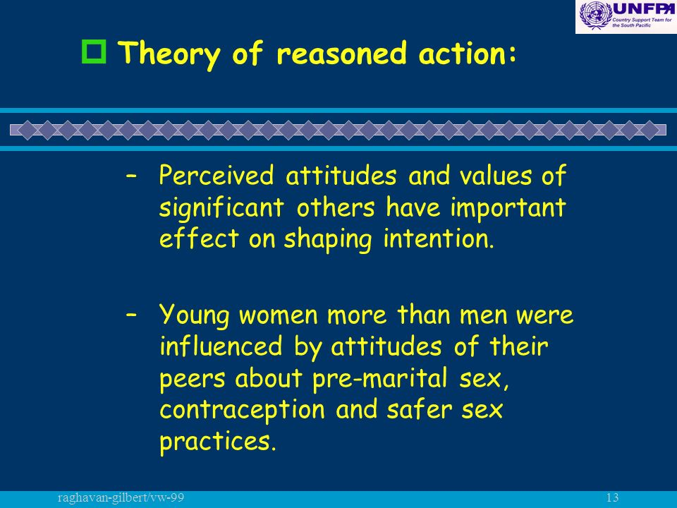 raghavan-gilbert/vw-9913 p Theory of reasoned action: –Perceived attitudes and values of significant others have important effect on shaping intention.