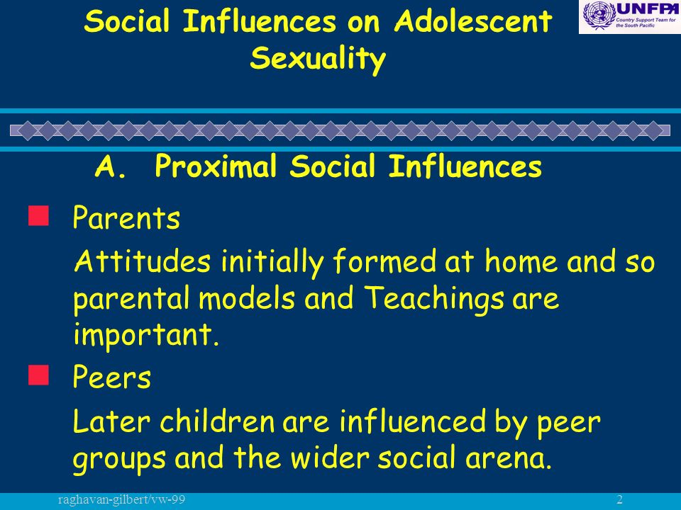 raghavan-gilbert/vw-992 Social Influences on Adolescent Sexuality A.
