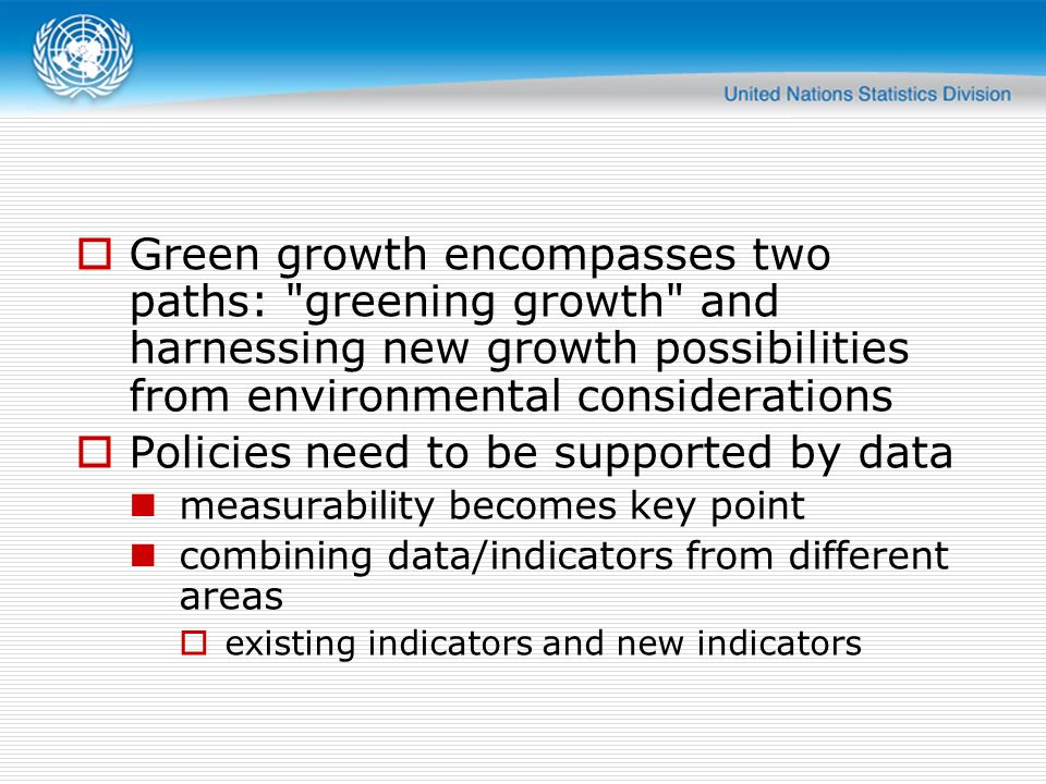 Green growth encompasses two paths: