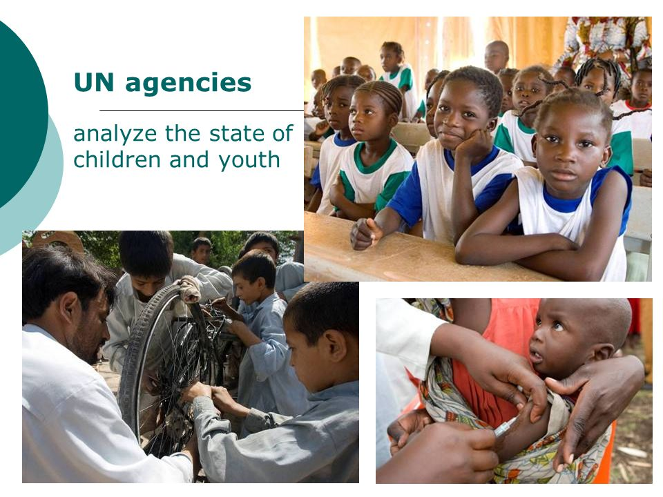 UN agencies analyze the state of children and youth