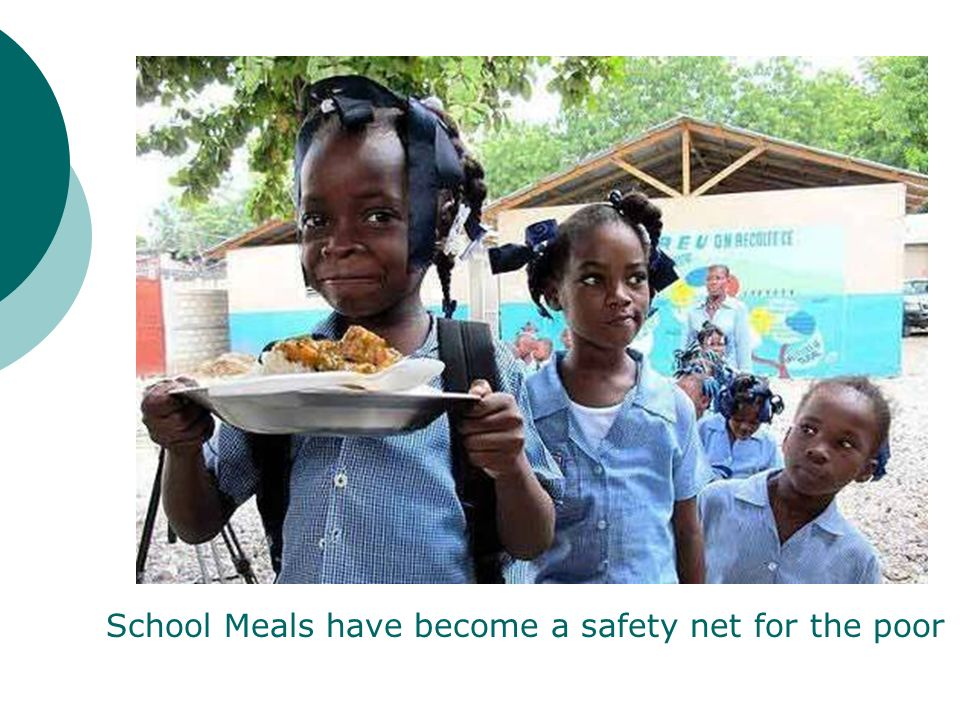 School Meals have become a safety net for the poor