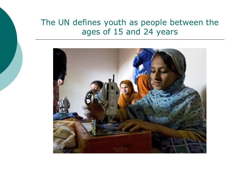 ...or 18 per cent of the worlds population Youth number 1.2 billion