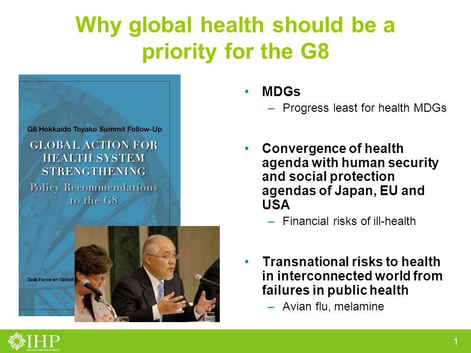 External Financing for Health Care: Takemi Working Group Recommendations to G8 Ravi P.