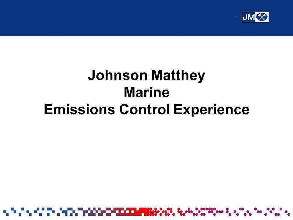Johnson Matthey Marine Emissions Control Experience