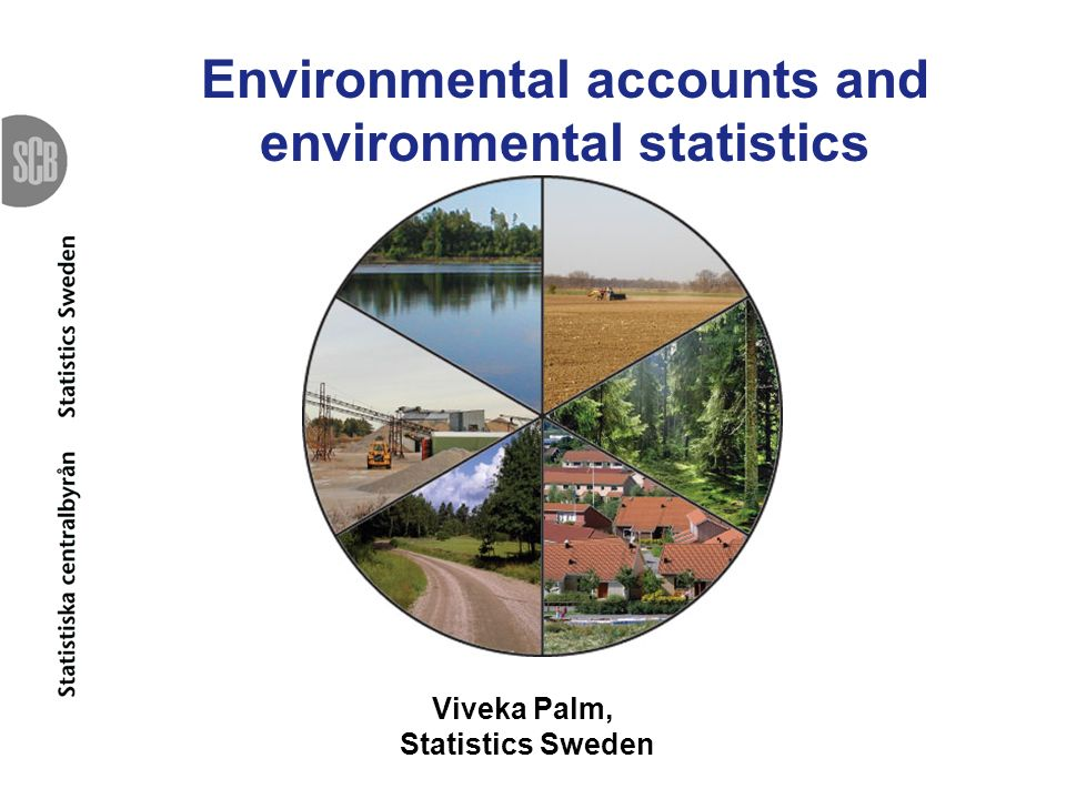 Statistics Swedens organization in the area of environment Unit for Environment and tourism Unit for Environmental Accounts and Natural Resources using data from the unit of energy and transport as well as the agricultural unit, the national accounts and the business register