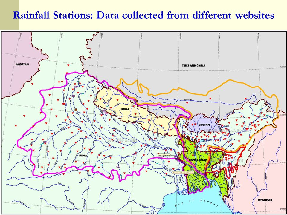 Rainfall Stations: Data collected from different websites