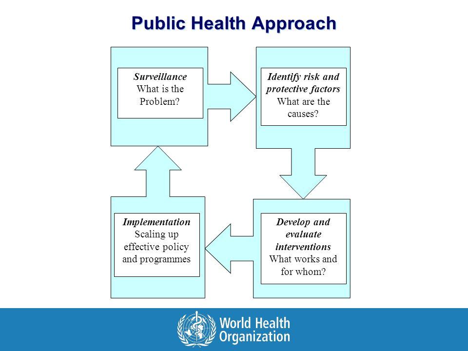 Public Health Approach Surveillance What is the Problem.