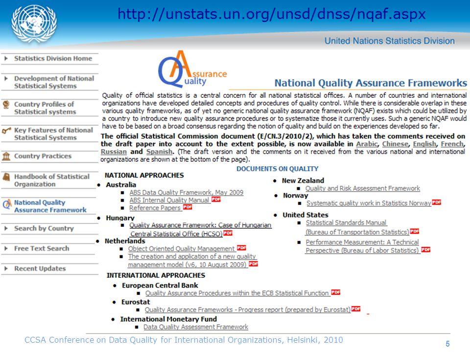 6 http://unstats.un.org/unsd/dnss/nqaf.aspx