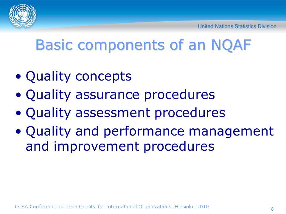 CCSA Conference on Data Quality for International Organizations, Helsinki, 2010 9