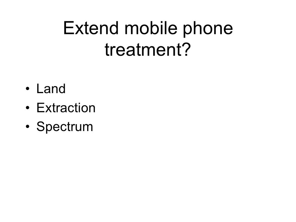 Extend mobile phone treatment Land Extraction Spectrum