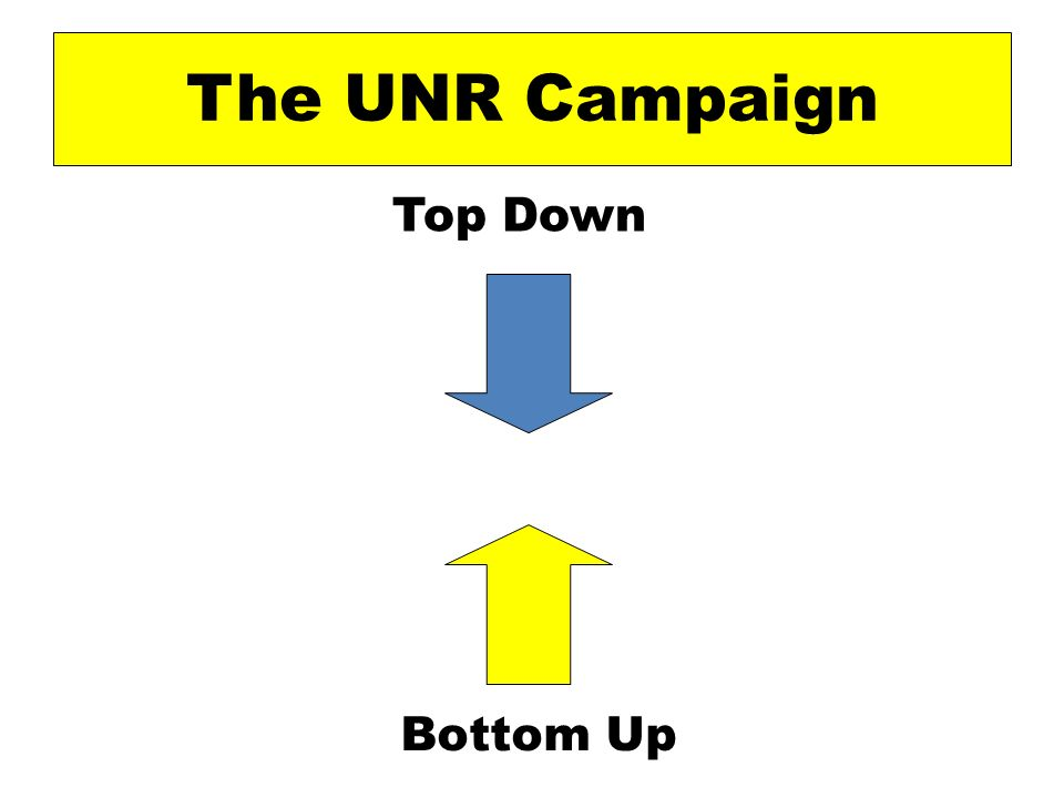 The UNR Campaign Top Down Bottom Up
