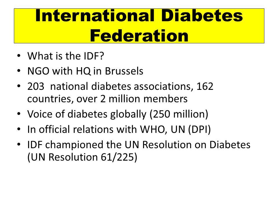 a growing organization www.idf.org