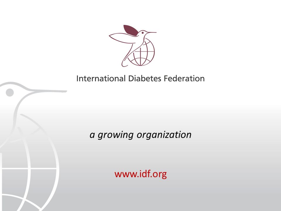 a growing organization www.idf.org