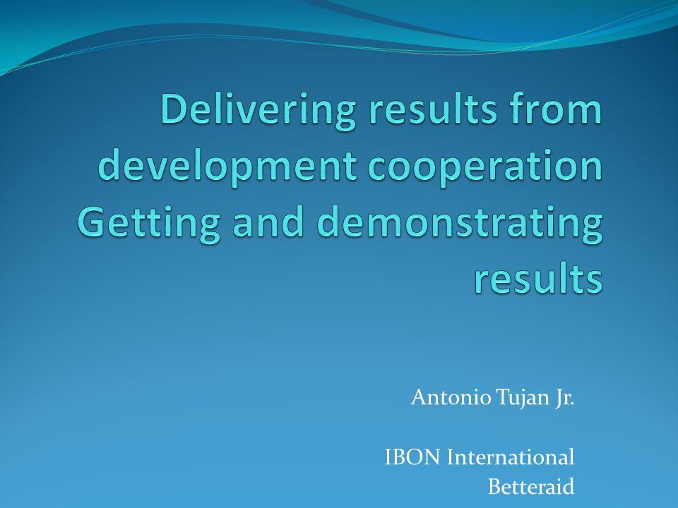Antonio Tujan Jr. IBON International Betteraid