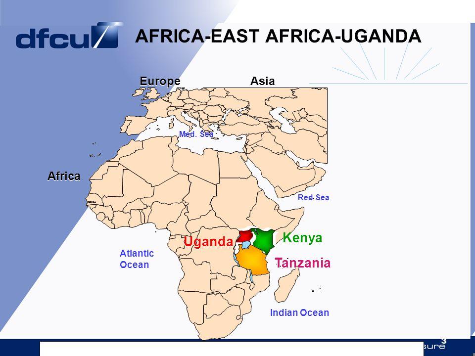 3 Tanzania Kenya Uganda AFRICA-EAST AFRICA-UGANDA Indian Ocean Europe Red Sea Med. Sea Atlantic Ocean Asia Africa