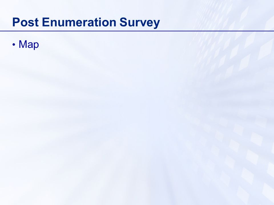 Post Enumeration Survey Map