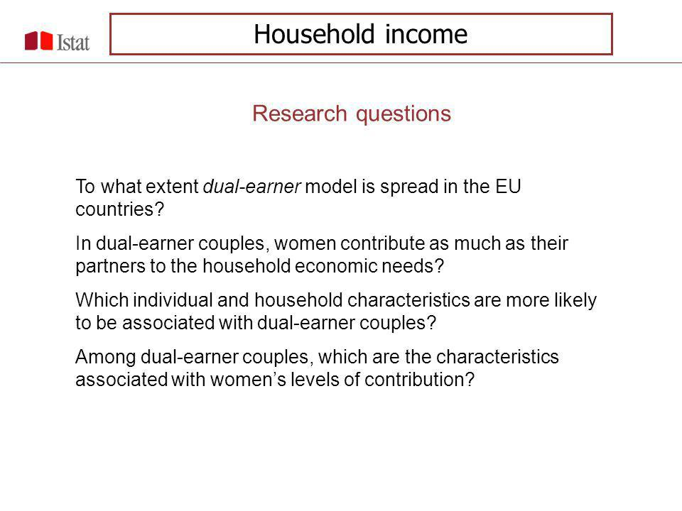 To what extent dual-earner model is spread in the EU countries.