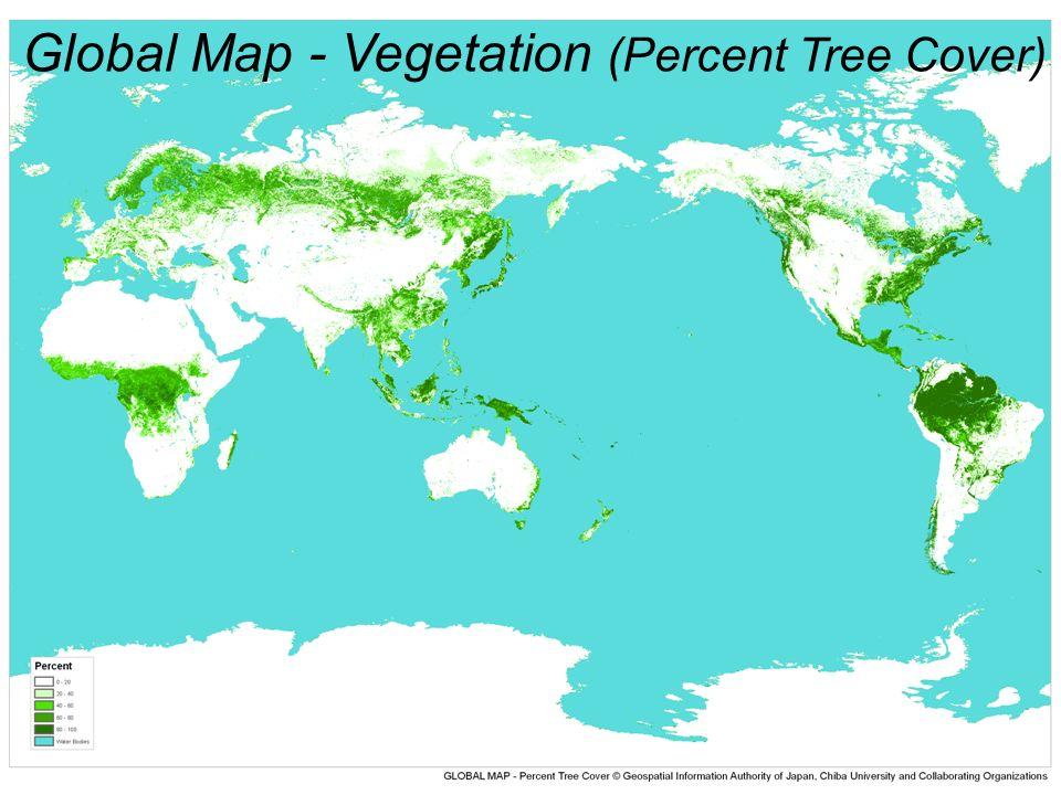 Global Map - Vegetation (Percent Tree Cover)