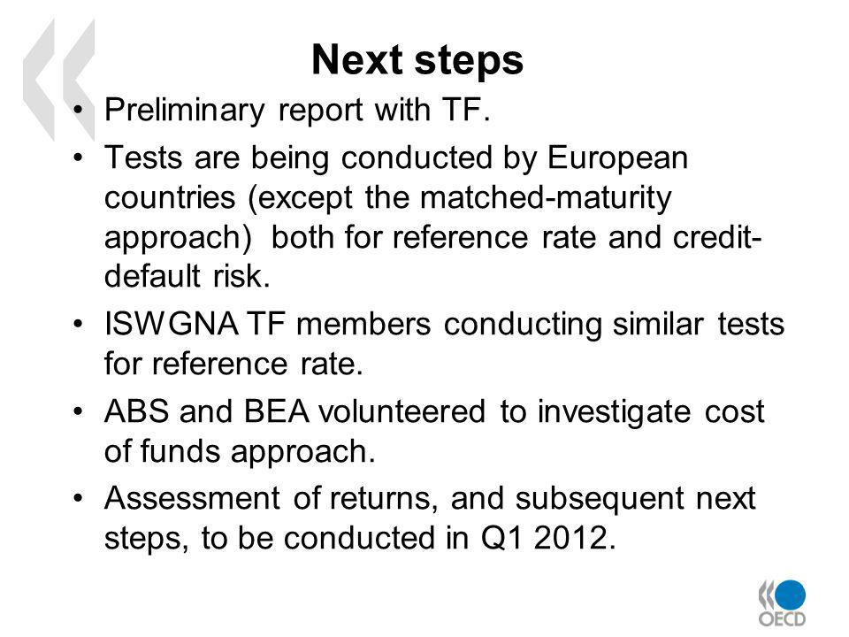 Next steps Preliminary report with TF.