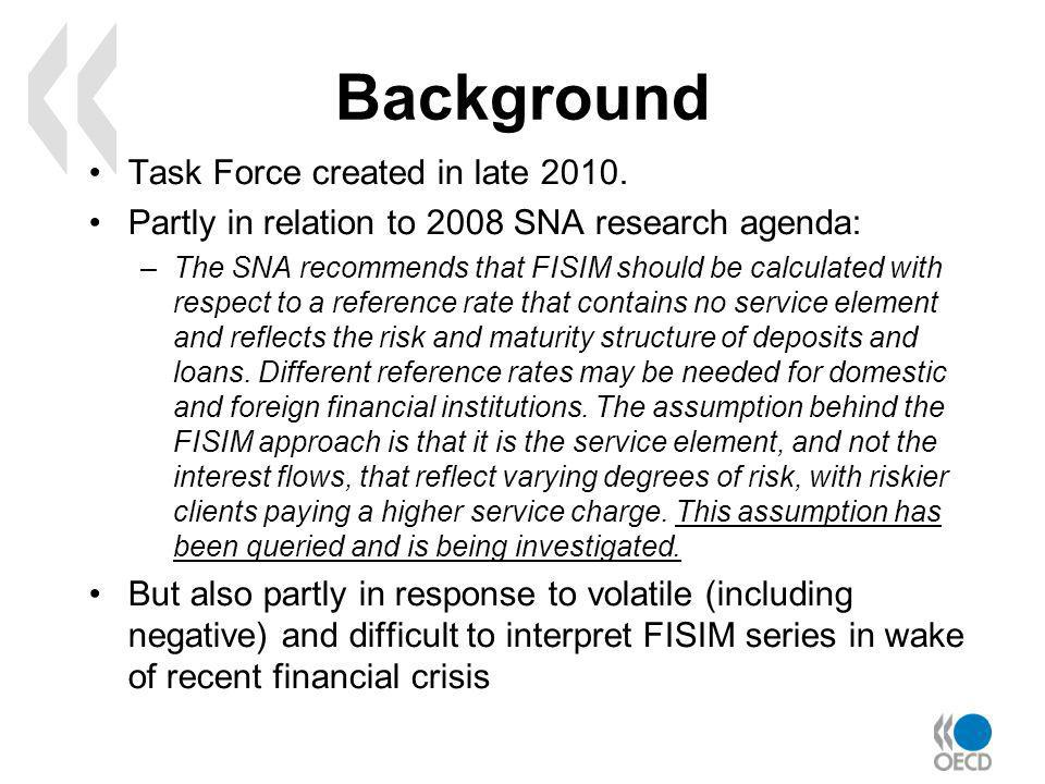 Background Task Force created in late 2010.