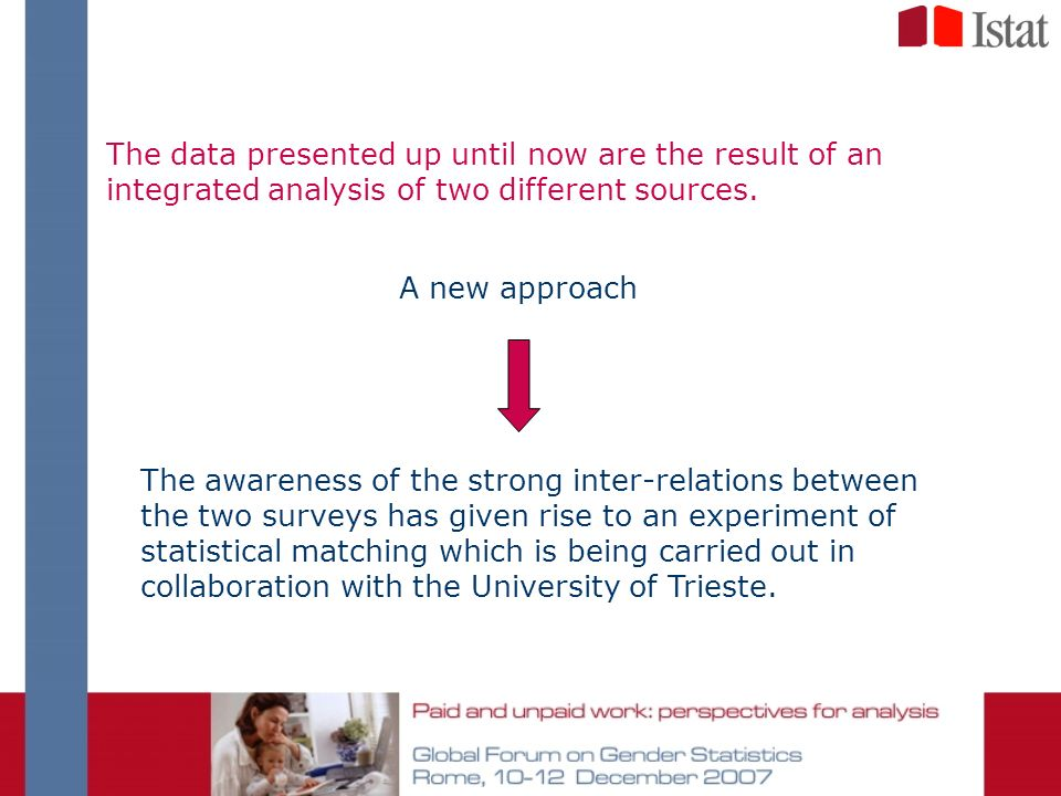 The data presented up until now are the result of an integrated analysis of two different sources. The awareness of the strong inter-relations between
