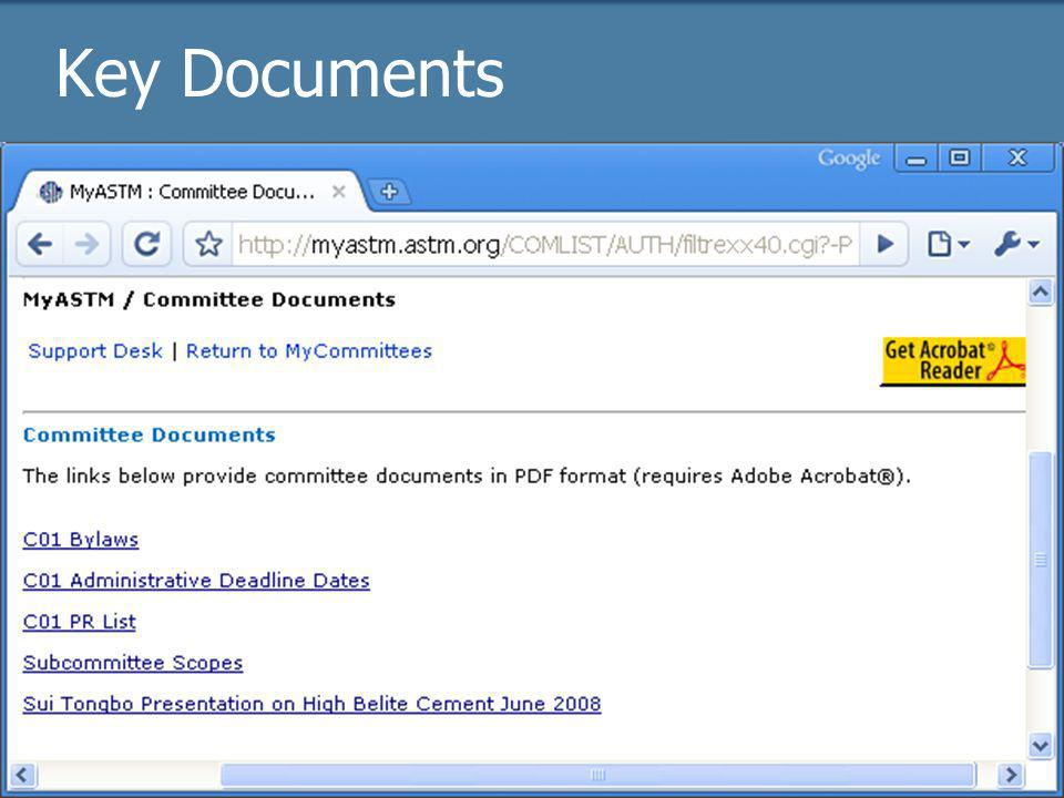 2009 Officer trainingASTM Online41 Key Documents