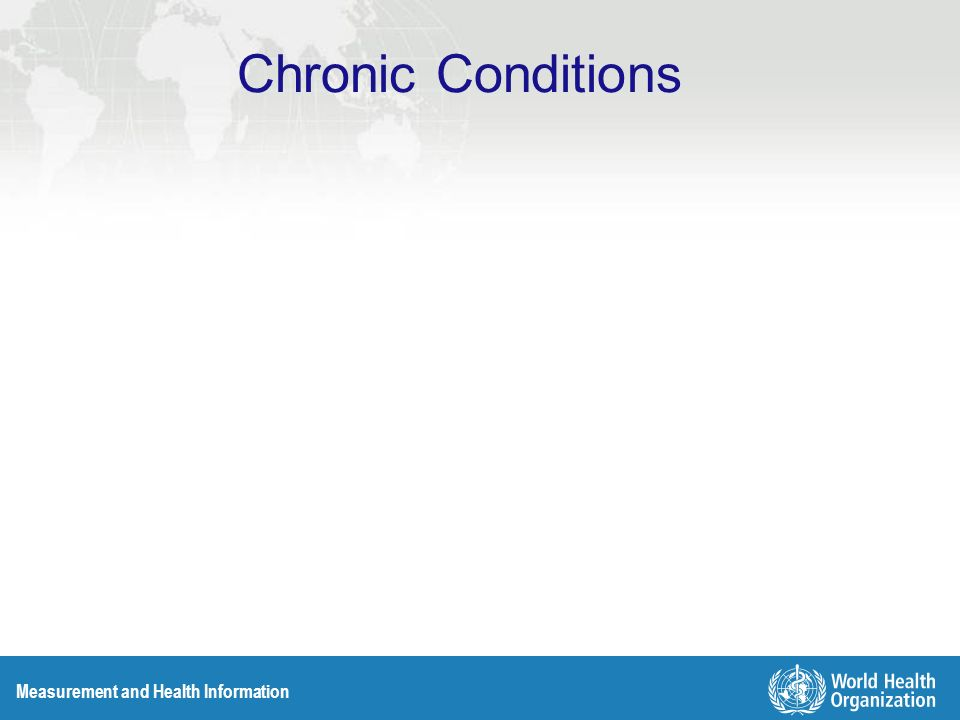 Measurement and Health Information Chronic Conditions