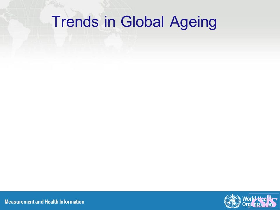 Measurement and Health Information Trends in Global Ageing
