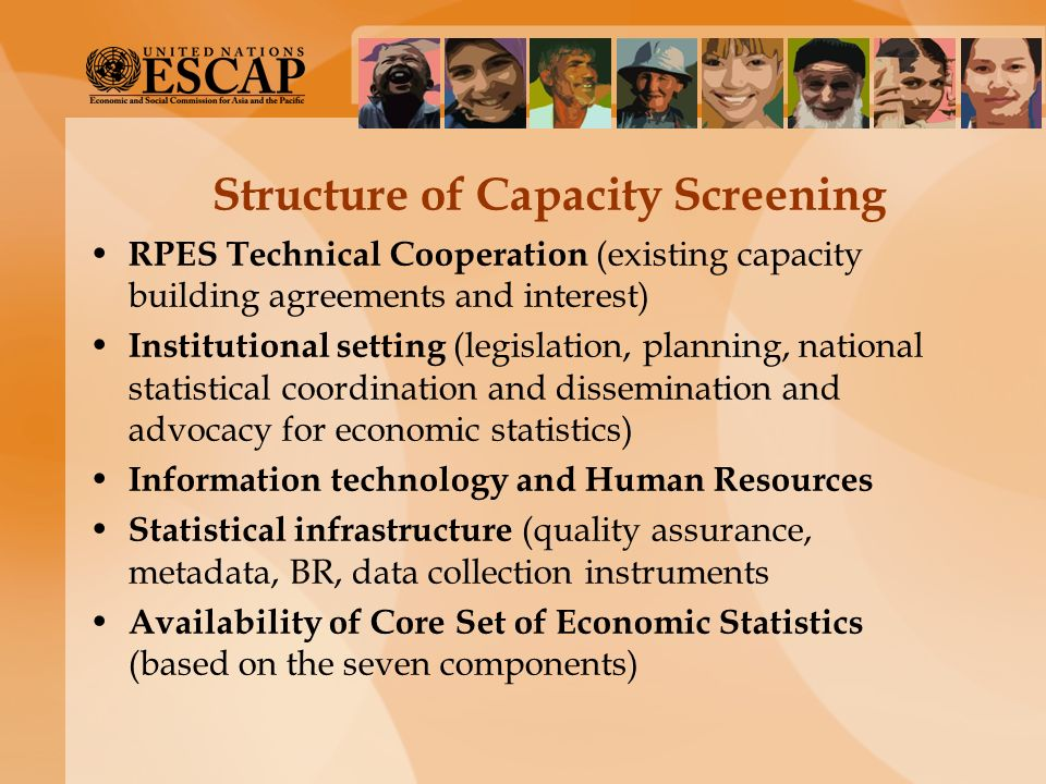 Structure of Capacity Screening RPES Technical Cooperation (existing capacity building agreements and interest) Institutional setting (legislation, pl