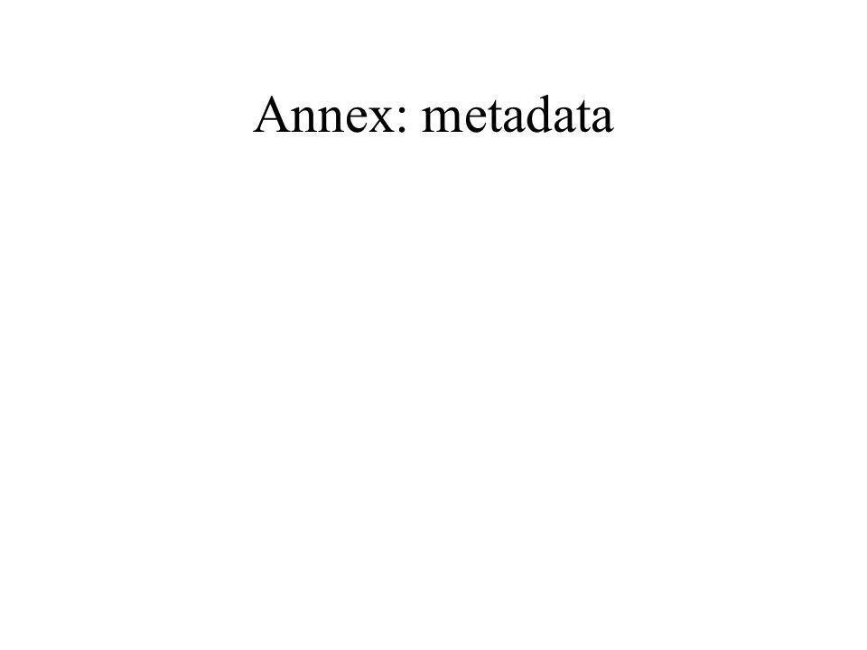 Annex: metadata