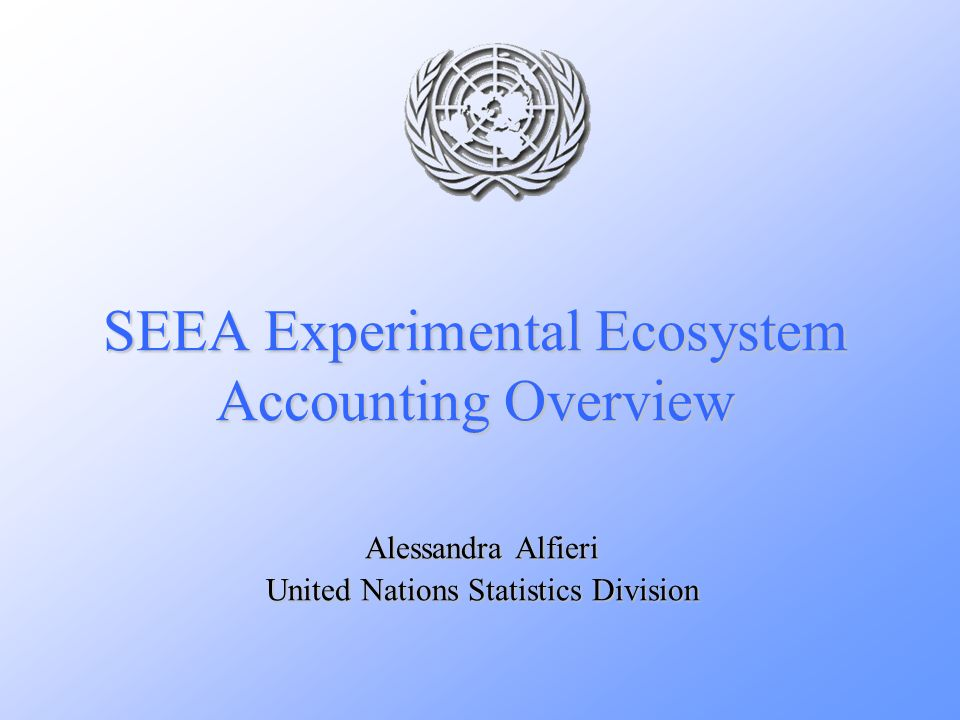 SEEA Experimental Ecosystem Accounting Overview Alessandra Alfieri United Nations Statistics Division