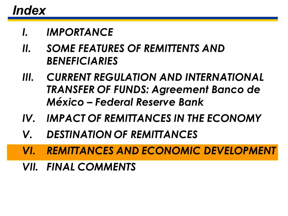 26 V. Destination of Remittances Most of remittances are used by households for consumption expenditure, including education expenditure. Part of such