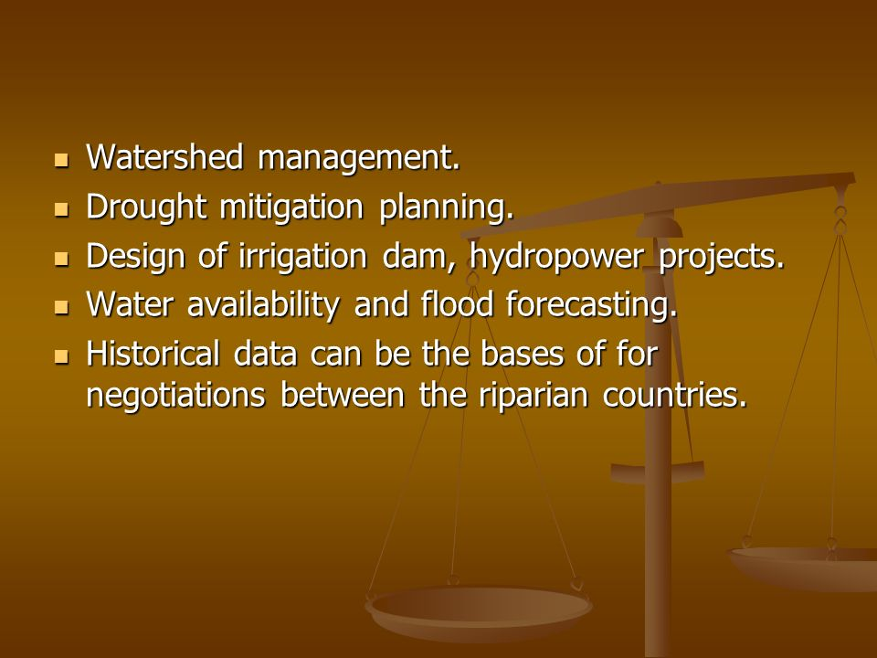 Watershed management. Watershed management. Drought mitigation planning.