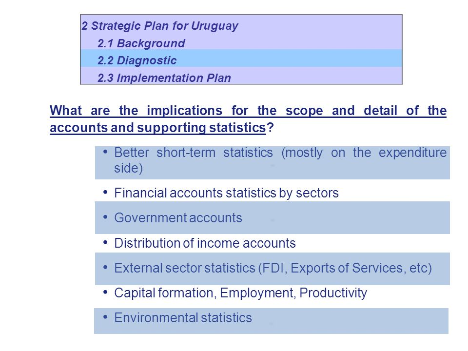 What are the implications for the scope and detail of the accounts and supporting statistics.