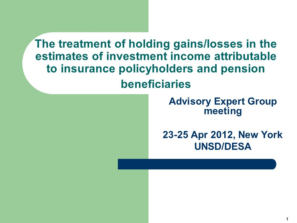 12 Impact of including holding gains and losses in supplement items in the calculation of the implicit service charges Method I – holding gains/losses are excluded Service charge equals premiums earned – benefits due + investment income (excluding hgl) – (end of period reserves – start of period reserves – hgl) = 2 – 0 + 1 – (205 – 200 – 6) = 4 Method II – holding gains/losses are included Service charge equals premiums earned – benefits due + investment income (excluding hgl) + hgl – (end of period reserves – start of period reserves) = 2 – 0 + 1 + 6 – (205 – 200) = 4