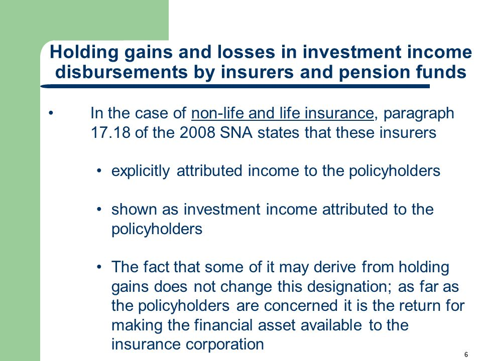 17 Method I - Worked example on recording life insurance transactions excluding holding gains/losses