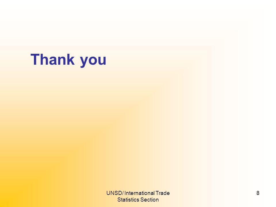 UNSD/ International Trade Statistics Section 8 Thank you