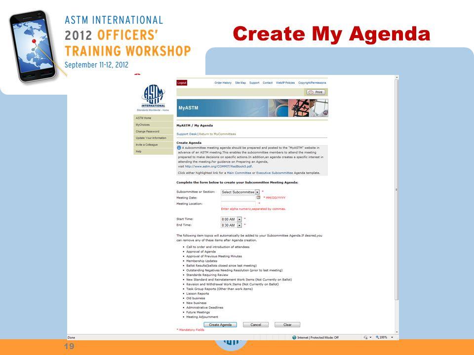 Create My Agenda 19