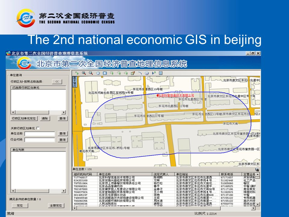The 2nd national economic GIS in beijing