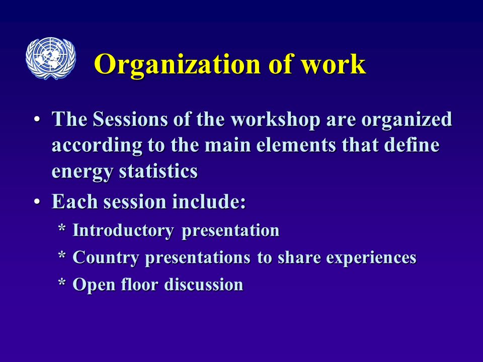 The workshop conclusions The conclusions of this workshop:The conclusions of this workshop: will be posted on the UNSD websitewill be posted on the UNSD website will contribute to the development of international recommendations for energy statisticswill contribute to the development of international recommendations for energy statistics will be used in preparation of an outline of the future manual on good practices in compilation of the energy statistics.will be used in preparation of an outline of the future manual on good practices in compilation of the energy statistics.