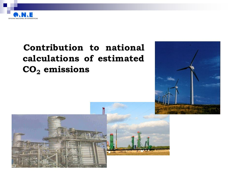 Contribution to national calculations of estimated CO 2 emissions