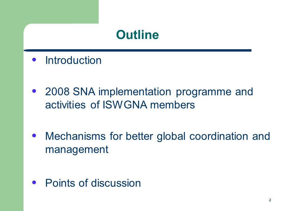 3 Introduction Increased concerns about data gaps and major revisions in national accounts and supporting statistics of developing countries NSOs committed to uphold UN Fundamental Principles of Official Statistics and 2008 SNA implementation goals Subscribed to common high-level goals for SNA implementation by improving the scope, timeliness and quality of economic statistics