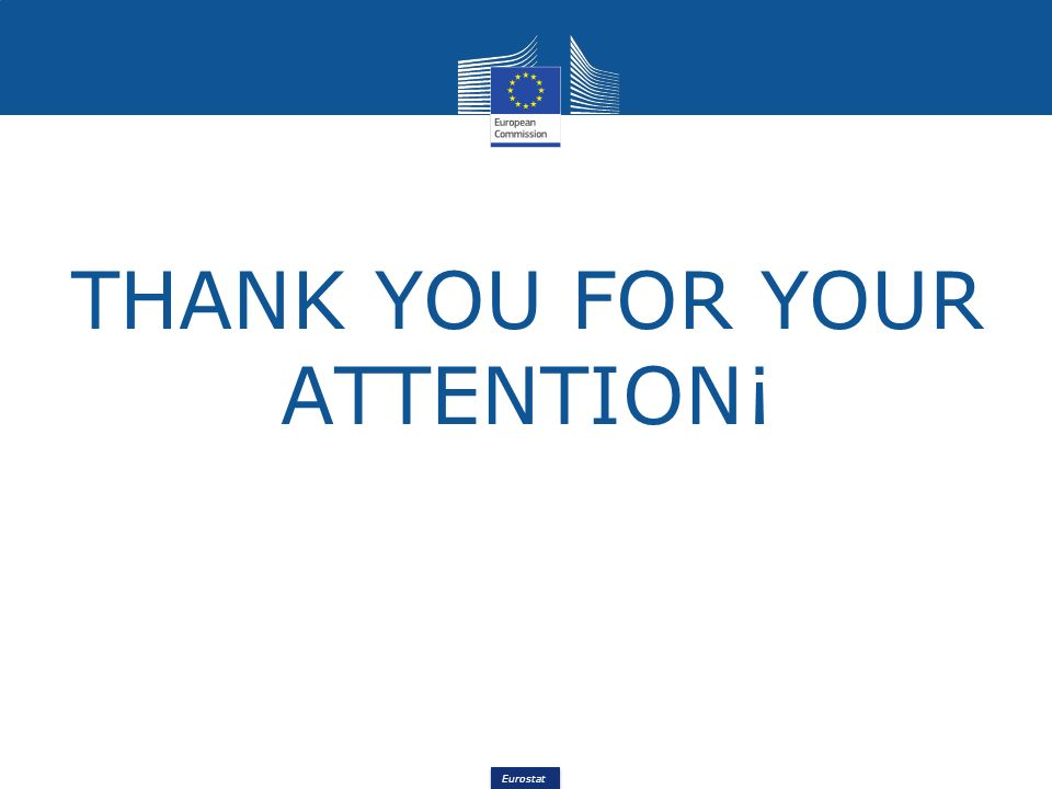 Eurostat THANK YOU FOR YOUR ATTENTION¡